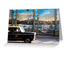 Mumbai Mural, Taxi Greeting Card