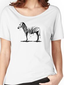 Zebra melting Women's Relaxed Fit T-Shirt
