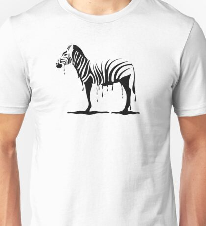 Zebra melting Unisex T-Shirt