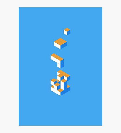 Isometric Tetris Cube Photographic Print