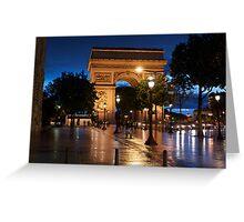 wet slick - Champs Elysees Paris Greeting Card
