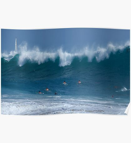 Braving the Mighty Wave Poster