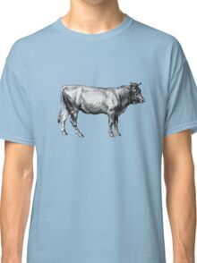 Vintage Old Cow Illustration Classic T-Shirt
