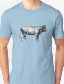 Vintage Old Cow Illustration T-Shirt