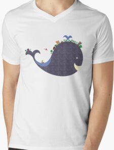 whale Mens V-Neck T-Shirt