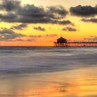 Huntington Beach Pier at Sunset by Brendon Perkins
