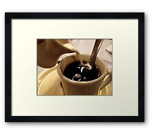 Caffeine Fix - Cream Please Framed Print
