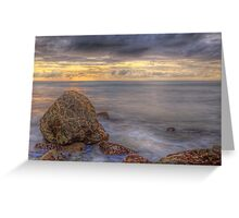 Marbled Boulder (Palos Verdes, California) Greeting Card