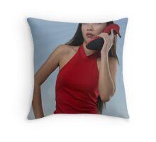 red-com Throw Pillow