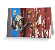 Bent padlock hoops Greeting Card