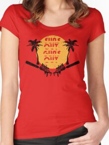 Suns Out Guns Out - H1Z1 - Cracked Women's Fitted Scoop T-Shirt