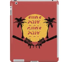 Suns Out Guns Out - H1Z1 - Cracked iPad Case/Skin