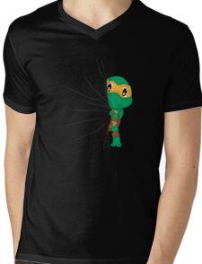 HIDDEN TMNT michelangelo ! Mens V-Neck T-Shirt