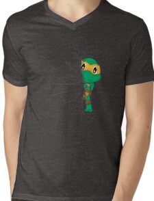 HIDDEN TMNT michelangelo ! Mens V-Neck T-Shirt