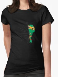 HIDDEN TMNT michelangelo ! Womens Fitted T-Shirt
