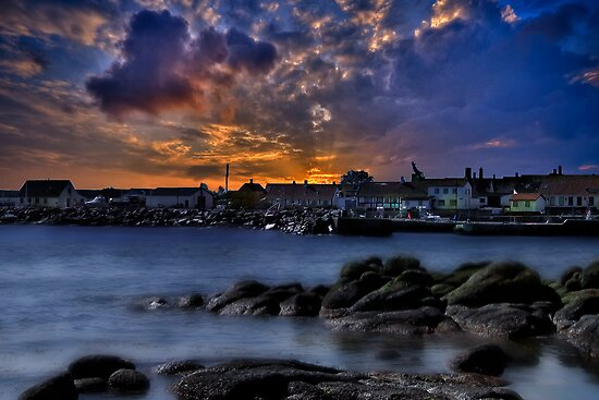 Sunset over Bornholm by Delfino