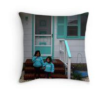 The Littlest Sisters- Long Beach Island NJ Throw Pillow