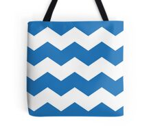 Bright Blue Chevron Print Tote Bag