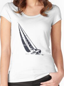 Sailingboat Women's Fitted Scoop T-Shirt
