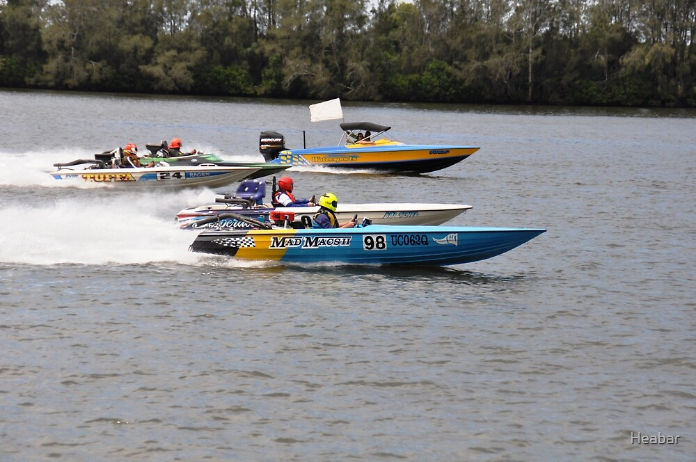 Superboats on the Manning River Taree. by Heabar