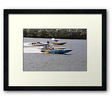 Superboats on the Manning River Taree. Framed Print