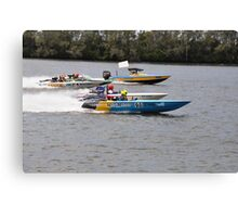 Superboats on the Manning River Taree. Canvas Print