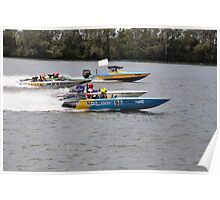 Superboats on the Manning River Taree. Poster