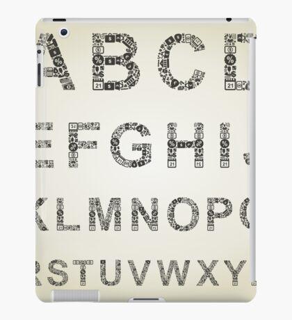 Alphabet business iPad Case/Skin