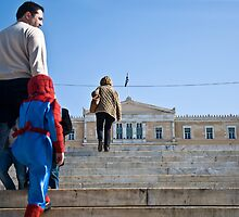 Spiderman coming to the rescue of Greece by StamatisGR