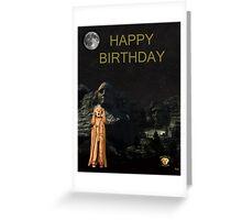The Scream World Tour Mount Rushmore Happy Birthday Greeting Card