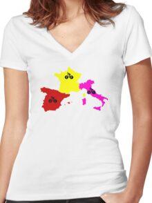 Giro - Tour - Vuelta Women's Fitted V-Neck T-Shirt