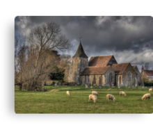 Sheep may safely graze Canvas Print