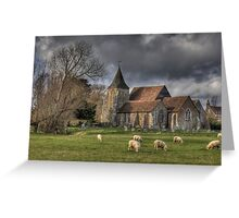 Sheep may safely graze Greeting Card