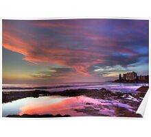 Sunrise at Cronulla Rockpools - HDR Poster