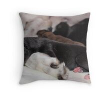 I love my Mum .. 1 Day old Greyhound Throw Pillow