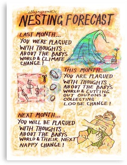 Pregnancy: Nesting Forecast by ellejayerose