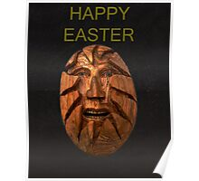 Hatching, Easter Head Happy Easter Poster