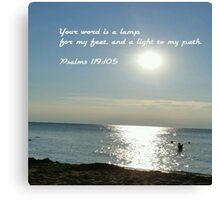 His word lights the path of life Canvas Print