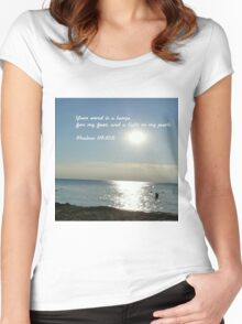 His word lights the path of life Women's Fitted Scoop T-Shirt