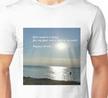 His word lights the path of life Unisex T-Shirt