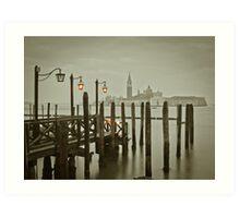Misty Morning in Venice Art Print