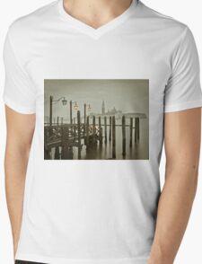 Misty Morning in Venice Mens V-Neck T-Shirt
