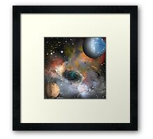 Deep Space Roundabout Framed Print