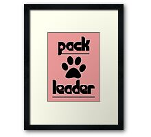 pack leader Framed Print