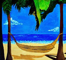 tropical hammock on the beach by grostique