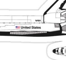 Nasa Graphics Standards Manual 1976 0052 Spacecraft Markings Space Shuttle Sticker