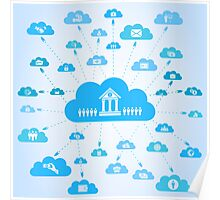 Business a cloud Poster