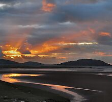 Sunset Portmeirion Estuary by Alison Frost