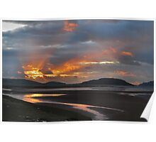 Sunset Portmeirion Estuary Poster