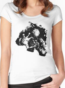 Leroy (Messy Ink Sketch) Women's Fitted Scoop T-Shirt